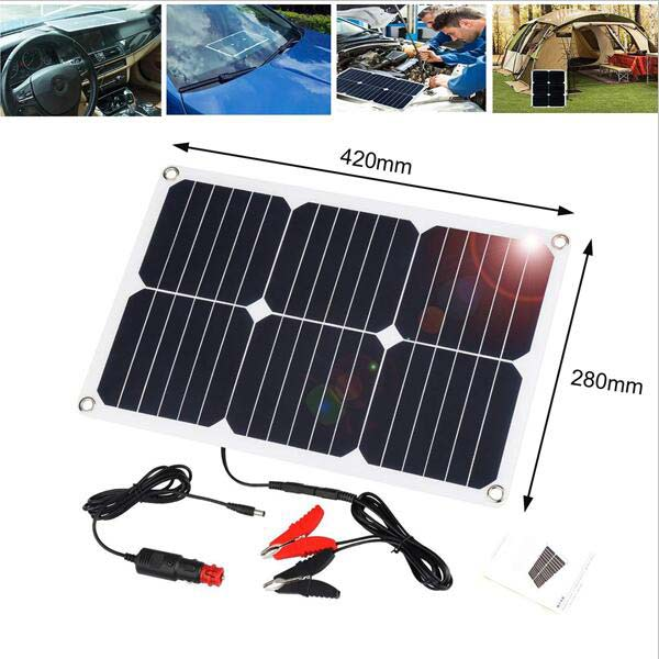 Portable Solar Battery Maintainer Charger