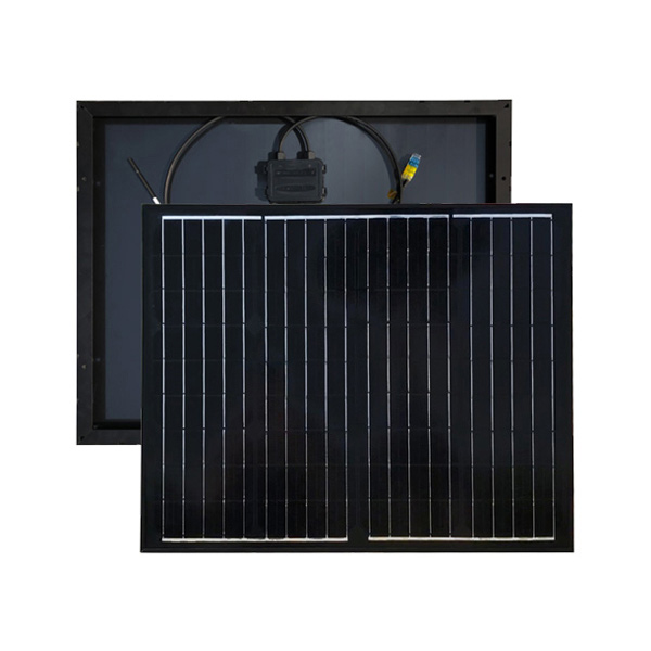 55W black Monocrystalline Solar Panel High Efficiency Module Off Grid PV Power for Battery Charging, Boat, Caravan, RV and Any Other Off Grid Applications