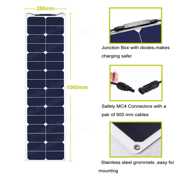 50 Watt SunPower Flexible Solar Panel