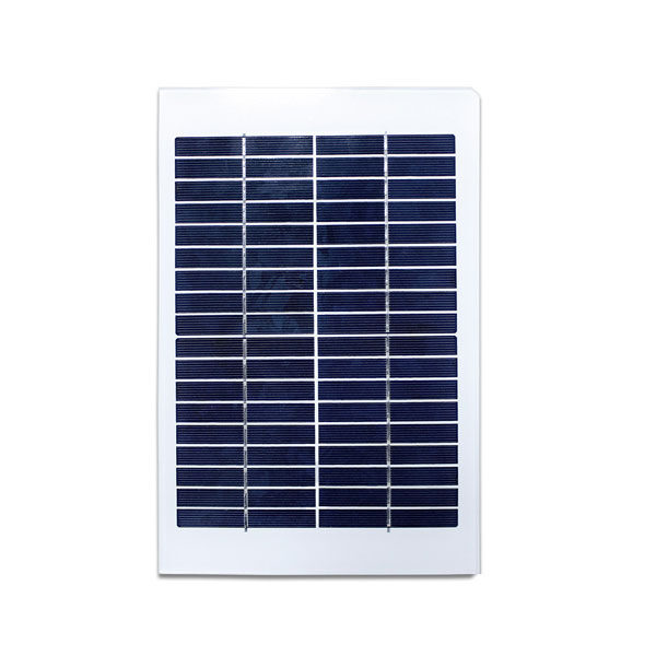5W 18V Glass Solar Panel for monitor 12 volt battery charging