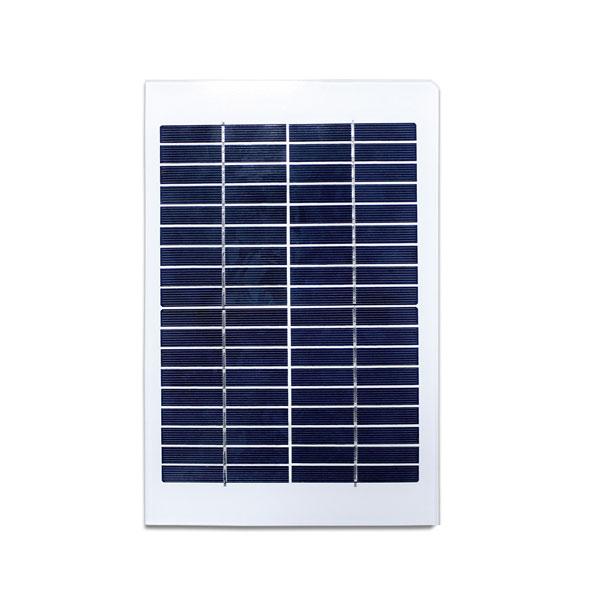 5W 18V Glass Solar Panel for monitor 12 volt battery charging